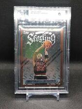 Michael Jordan 1996-97 Topps Finest Sterling #50 Unpeeled BGS 9 NBA Chicago Bull