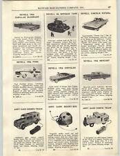 1956 PAPER AD Revell Model Cadillac Eldorado Sherman Tank Lincoln Futura A Gard