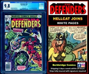 🔥 DEFENDERS #46 CGC 9.8 WHITE PAGES 👀 LOOK AVENGERS 144 FANS: HELLCAT JOINS