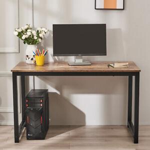 Computer Office Desk Corner Wooden Metal Desktop Table Study Workstation 120cm