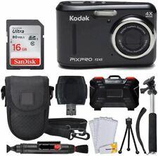 Kodak PIXPRO FZ43 16.15MP Digital Camera with 4X Optical Zoom + SanDisk 16GB Ult