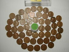 1920-P LINCOLN WHEAT CENT PENNY ROLL, all coins fine grade