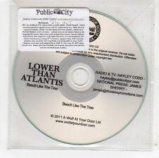 (FV855) Lower Than Atlantis, Beech Like The Tree - 2011 DJ CD