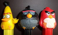 NEW 2016 EUROPE -ANGRY BIRDS SET OF 3 PEZ mint loose