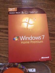 Microsoft Windows 7 Home Premium Family Pack 3X Upgrade 32- + 64-Bit Product Key