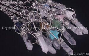 Natural Gemstones Merkaba Pendulum Healing Crystal Pointed Reiki Chakra Pendant