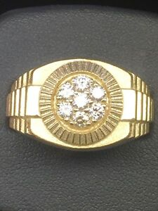 10K Gold Men's Diamond 0.50 Ct Cluster Ring Available size 6-14 Appx Weight 10g