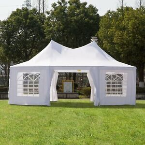 6.8m x5m Octagonal Party Tent / Wedding Marquee-White