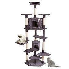 "80"" Cat Tree Tower Condo Climbing Furniture Scratching Post Pet Kitty Us Ship"