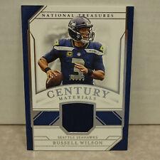 2018 National Treasures Century Materials #CM-RW Russell Wilson Seahawks #73/99