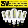 25W E14/G9/GU10/E27/B22 Bright LED Lights 5730SMD Corn Bulb Lamp Cool/Warm White