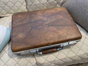 Vintage 60's American Tourister brown Briefcase Attaché Case ESCORT SLIM