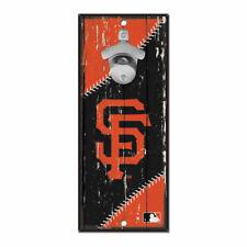 MLB San Francisco Giants SF Bottle Opener Wood Sign Holzschild Holz Wandschmuck