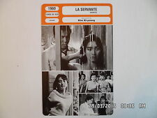 CARTE FICHE CINEMA 1960 LA SERVANTE Lee Eun-shim Kim Jin-kyu Ju Jeung-nyeo