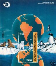 CHILE, ANTARCTIC & ARCTIC FAUNA, SOUVENIR SHEET, MNH, YEAR 1989, BLOCK N° 46
