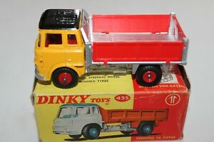 Dinky Toys 435 Bedford TK Tipper Yellow/Black/Silver & Red sides