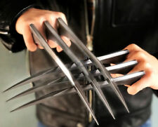 1 Pair X-Men Logan Wolverine Claws ABS Cosplay 1:1 Props Flintiness Copy Steel