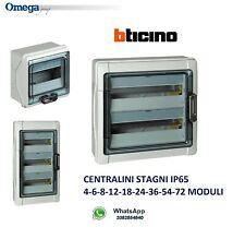 CENTRALINO STAGNO - QUADRO ELETTRICO BTICINO F107N DA PARETE ESTERNO IP65 MODULI