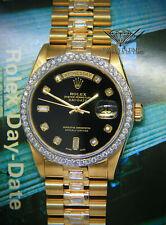 Rolex Day-Date President 18k Yellow Gold Diamond Dial/Bezel/Bracelet Watch 18038