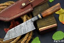 Custom Damascus Steel Chef Knife Handmade With Walnut Handle (Z471-D)