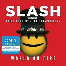 Slash World on fire cd and t-shirt!  lenticular cover myles kennedy  best buy