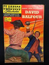 Classics Illustrated #94 David Balfour by Stevenson (Hrn 94) 1st 1952 Vg/Vg+ ink