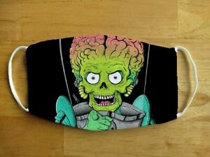 Face Mask Funny Martian Alien Mars Attacks Reusable Protection Face Cover UK