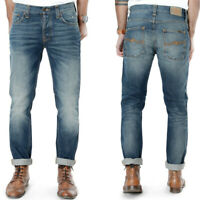 new Nudie Mens Slim Fit Jeans | Grim Tim Organic Dark Ropy