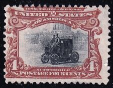 US STAMP #296 – 1901  4c Pan-American Exposition: Electric Automobile unused/ng