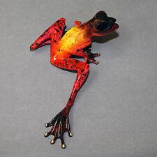 Bronze Frog Figurine Sculpture Statue Amphibian Art Signed Numbered Limited Edit