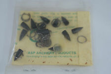 1 PACKAGE OF (12) NEW OLD STOCK  WASP  BROADHEAD TIPS / POINTS AND RINGS
