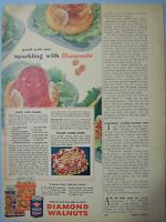 1955 Magazine Advertisement Page For Diamond Walnuts Shelled Nuts Vintage Ad
