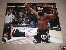 ELITE XC UFC SIGNED KIMBO SLICE HANDS UP 8X10 STREETFIGHTING LEGEND RIP