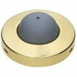 2-1/2 Inch Convex Wall Door Bumper Stop Bright Brass