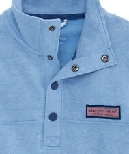 "Vineyard Vines ""Tri-Blend Snap Placket"" Shep Shirt, NWT - Boys L + XL - Blue"