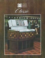 """Volantino Pubblicitario (Sheet) Juke Box """"Classic""""- Rowe AMI  - 1970 circa"""