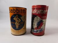 Vtg  Babbitt's Cleanser Tin Full Can & Calumet Tin Scouring Powder Advertising