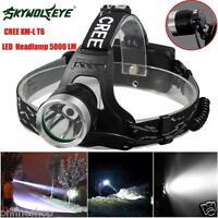 5000 Lm CREE XM-L XML T6 LED 18650 Headlamp Headlight Flashlight Head Light Lamp