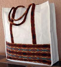 Canvas Shopping Bag Tote 1-HIGuat4 XL Guatemalan Designs Purse