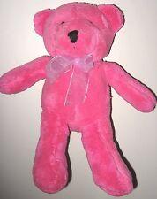 "Pier 1 Imports Pink Teddy Bear 11"" Plush Stuffed Animal Toy Baby Lovey Pier One"