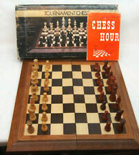 """Tournament Chess Set: Board & Weighted Felted Staunton Wood Pieces 3-1/8"""" King"""