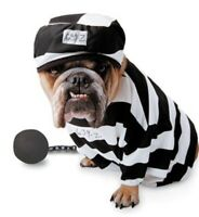 NEW ZELDA WISDOM PRISONER CRIMINAL PRISON DOG FANCY DRESS PET COSTUME  Med