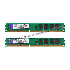 Per Kingston 4GB 2x2GB DDR3 PC3-10600 1333MHz 240Pin Unbuffered DIMM memoria RAM