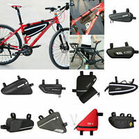 Waterproof Sporting Acces Bike Cycling Triangle Bag Front Frame Bicycle Pouch