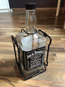 Jack Daniels mit METALLSCHAUKEL Cradle Hausbar Whisky 3 Liter LEER