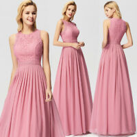 Ever-Pretty Elegant Lace Long Homecoming Dress Sleeveless Prom Party Dress 07391