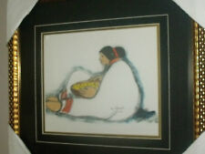 Helen de Silaghi Sirag CANADIAN ROMANIAN artist signed GIRL WITH BASKET