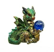 Miniature Fairy Garden Green Dragon w/ Gazing Ball - Buy 3 Save $5