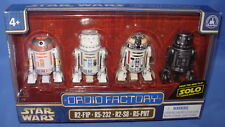Star Wars 2018 Disney Parks Star Wars SOLO Droid Factory Set of 4  Mint in Box