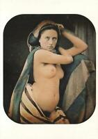 NUDE YOUNG WOMAN with CLOTH & DAGGER EROTIC PHOTO POSTCARD by Bruno Braquehais